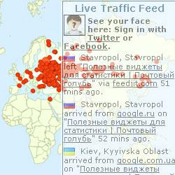 Live Traffic Feed - статистика на сайте